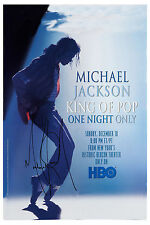 King Of Pop: Michael Jackson * Hbo One Night Only * Promo Poster Circa 1995