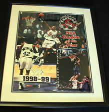 vince carter signed 16 x 20 picutre in rookie year .rookie of the year.COA
