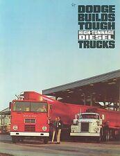 1966/67 Dodge gran tonelaje Diesel camiones folleto (usa)