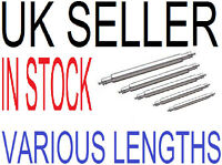 NEW WATCH Strap spring link pins bars, various, 12mm,18mm,18mm,19mm,21mm,23mm
