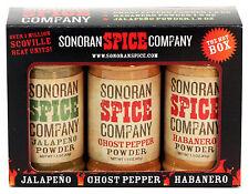 Ghost Pepper - Habanero - Jalapeno Powder 1.5 oz  Gift Box