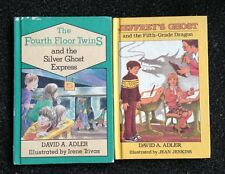 2 David A. Adler Books The Fourth Floor Twins and Silver Ghost Express Jeffrey's