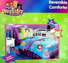 DIVA STARZ DOTZ TWIN COMFORTER SHEETS BEDSKIRT VALANCE  6PC BEDDING SET NEW