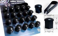 20 X BIMECC BLACK BOLT NUT COVER 17mm HEAD ALLOY WHEEL BOLTS FITS BMW 2 SEE LIST