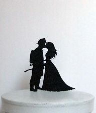 Wedding Cake Topper - Firefighter and Bride wedding