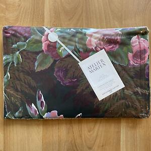 Vintage ATELIER MARTEX Luxury Twin Fitted Sheet - ENCHANTE - Dark Floral Print