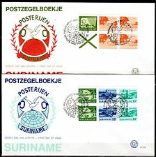 Suriname - 1976 Definitives airmail booklets - Mi. H-Blatt 1-2 clean FDC's