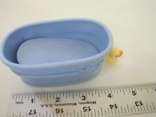 Littlest Pet Shop BLUE BATH TUB with Moving Yellow Duck Replacement Accessory