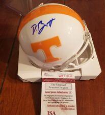 Derek Barnett Tennessee Volunteers Autograph Mini Helmet JSA Witness COA Auto SB