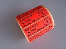 Aufkleber Warnetiketten auf Rolle - Bitte nicht mit dem Messer öffnen - 1000 St.