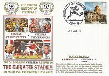 24 JANUARY 2016 ARSENAL v CHELSEA PREMIERSHIP DAWN FOOTBALL COVER