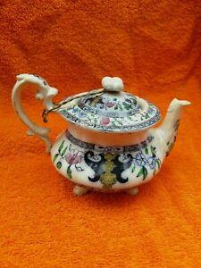Antique Ceramic Transfer Print Teapot C1890's