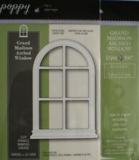 Poppystamps ~ GRAND MADISON ARCHED WINDOW  ~  Die ~ NEW