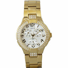New Authentic Guess Gold tone G13537L prism watch ,comes with Tag and guess box