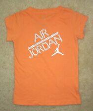 NWT Girls NIKE AIR JORDAN Orange Logo T-shirt - size 4 - Very Good Conditon!