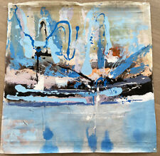 85*85cm GENUINE HAND PAINTED abstract  blue Modern ART CANVAS OIL PAINTING