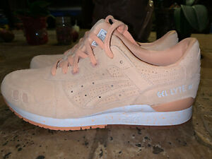 ASICS GEL LYTE III 3 Men's 11 Apricot Ice H803L 9595 Shoes Rare Salmon Fieg New