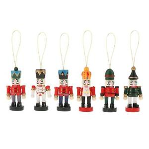 Mini Christmas Ornaments Nutcracker Figures for Tree Hanging Decor Pendant