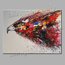 Hand-painted Abstract Art  Oil/Arylic Canvas Painting Animal Portrait Hawk