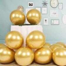 "5 pcs Metallic Balloons Chrome Shiny Latex 18"" Thicken For Wedding Party Baby"