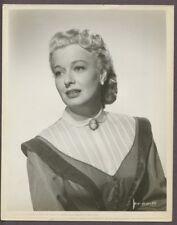 ELLEN DREW Glamorous Portrait ORIGINAL 1951 Glamour Photo J3038