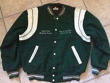 90s Vintage Usa  Leather trim   Jacket XXL letterman  80s Varsity