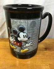 Mickey Mouse Black 3D Coffee Mug The Original Cartoon Mouse Disney Two Sided