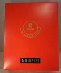 Pair New KR 842 VDH High End Audio Tubes NIB NOS w Individual specs Guaranteed