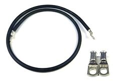 """32/"""" 812mm Car Battery Black Earth Earthing Negative Lead Cable Wire Strap M6"""