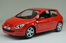 Peugeot 307 XSI red kinsmart Toy Model 1/32 scale Diecast Model Gift Car