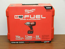 "Milwaukee 2764-22 M18 Fuel 3/4"" High Torque Impact Wrench With Fraction Ring"