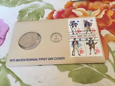 1975 Bicentennial American Revolution First Day Cover Coin Stamps