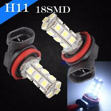2 AMPOULES 18 LED SMD H11 ANTI BROUILLARD FEUX TUNING 6000K