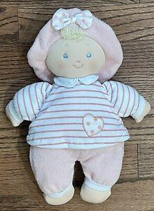 "Baby Gund Sweet Dolly 12"" Pink Plush Doll Stuffed Toy Lovey #058069 Sewn Eyes"