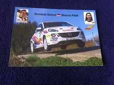 CP POSTCARD CARTOLINA OPEL ADAM DINKEL RALLY RALLYE WRC 2014