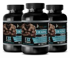 Creatine Powder 3X 5000mg Monohydrate Sports Supplements 270 Capsules 3 Bottles