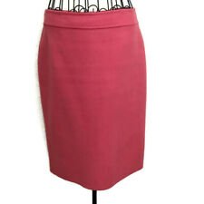 Talbots Wool Blend Pencil Skirt Dusty Coral Pink Knee Length Lined Size 4