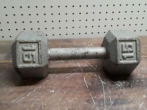 15 lb Cast Iron Hex Dumbbell Weight