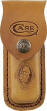"Case XX  Brown Leather Sheath Case for Folding Pocket Knife 4.5""  9026"