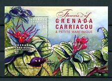 Grenadines Grenada 2016 MNH Flowers 2v S/S Snails Flora Nature Stamps