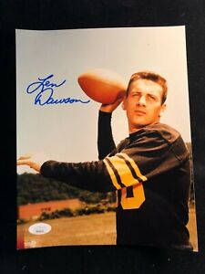 """Young"" Len Dawson Signed Autographed Photo Kansas City Chiefs JSA Authenticated"