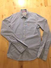 Jack Wills Men's Blue Pinstripe Small Shirt