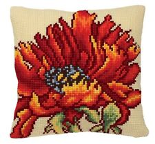 Collection D'Art - Cross Stitch Cushion Front Kit - Delicious Poppy - CD5166