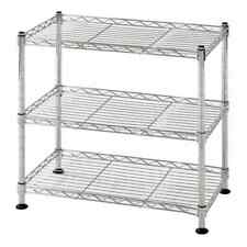 3 Tier Steel Wire Shelving Rack Shelf Adjustable Home Garage Storage Organizer