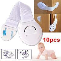 10pcs Child Infant Baby Kids Drawer Door Cabinet Cupboard Toddler Safety Lock GA