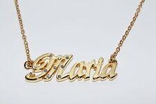 Maria de 18 quilates chapado oro chapado Collar con nombre-Nombre Cadena apreciación Navidad