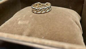Gold Cuban Link Ring 14k Yellow Gold
