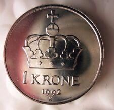 1992 NORWAY KRONE - Uncirculated from Mint Roll - BARGAIN BIN #EEE