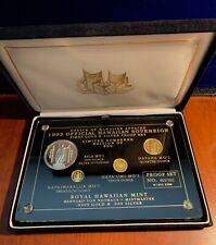 Royal Hawaiian Mint 1993 King Kamehameha Gold & Silver Set Of Medallic Coins