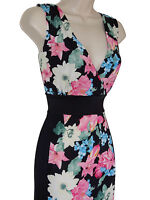 PISTACHIO - BLACK/PINK/BLUE/MULTI FLORAL SUMMER MAXI DRESS - PLUS SIZE 12/14